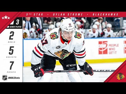 Dylan Strome is named the third star of the week