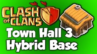 Clash Of Clans - BEST Town Hall 3 Hybrid Base (th3) BEST Town Hall 3 (TH3) Speed Build
