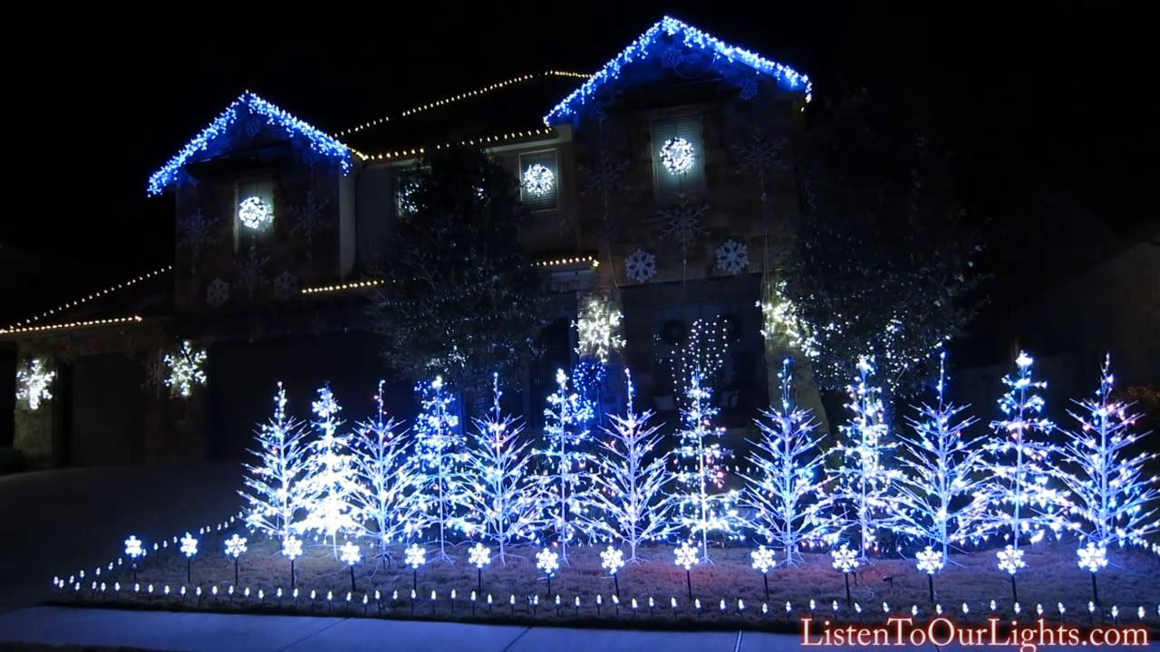 frozen christmas lights let it go youtube