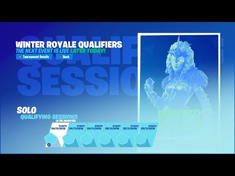 Winter Royale Fortnite Tournament Event