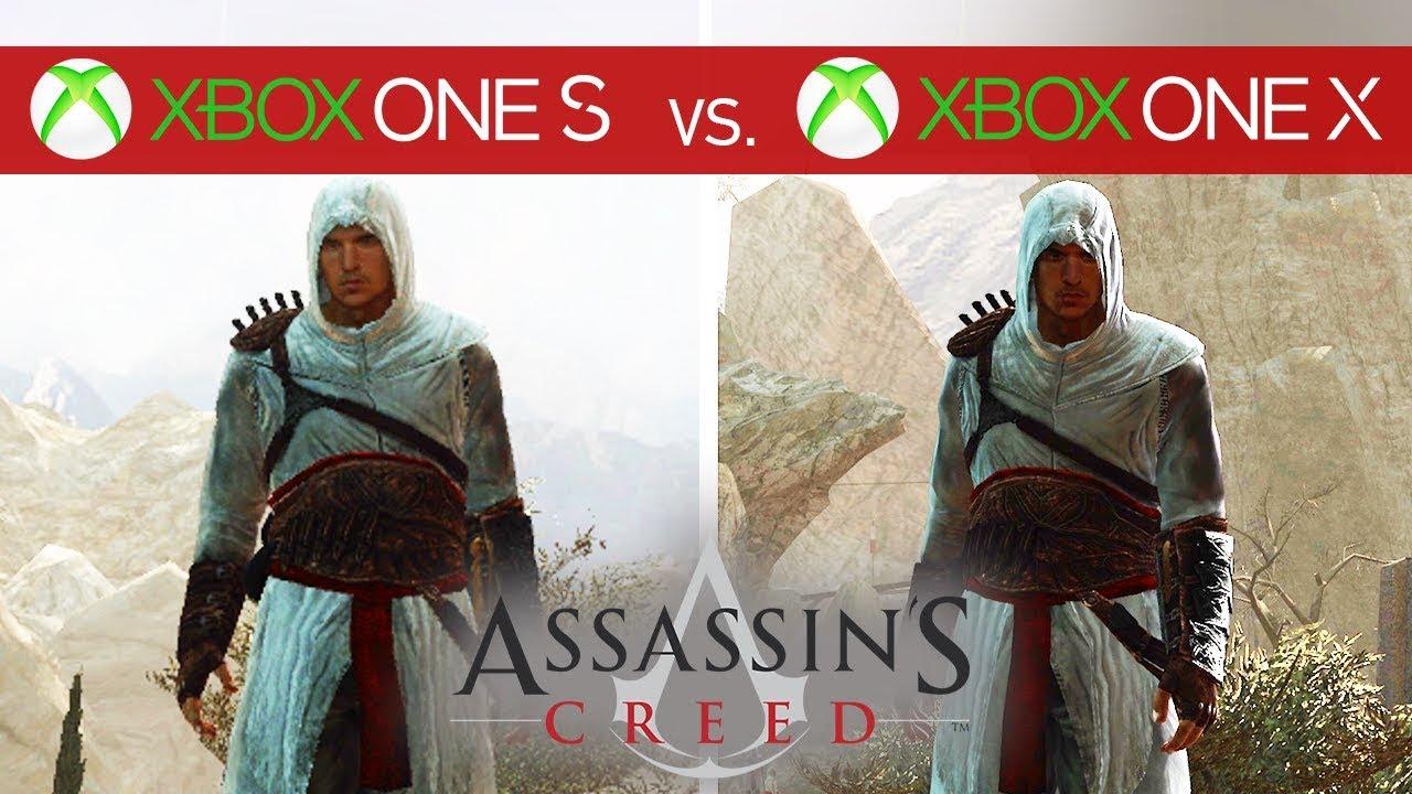Assassin S Creed Comparison Xbox One X Vs Xbox One S Youtube