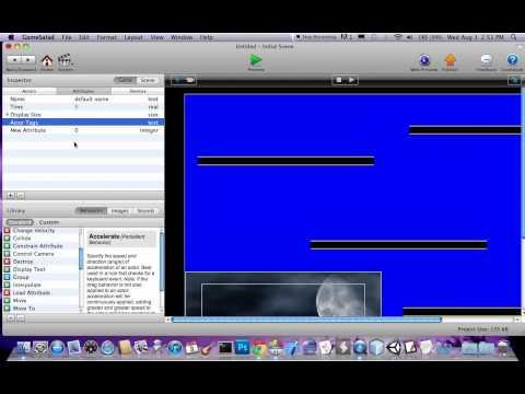 HUD, control camera, and layers tutorial GameSalad