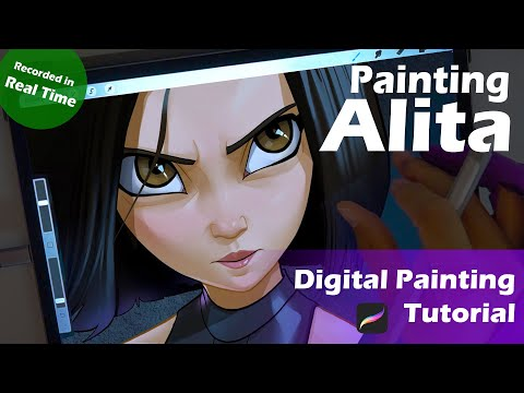 Painting Alita - Digital Painting Tutorial with Procreate thumbnail