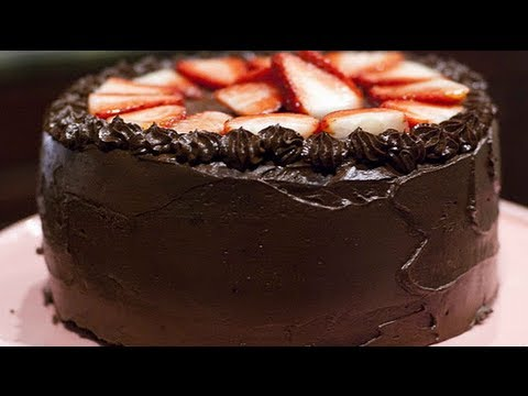Vegan Devils Food Cake Recipe - Vegan Chocolate Cake Recipe - Ganache ...