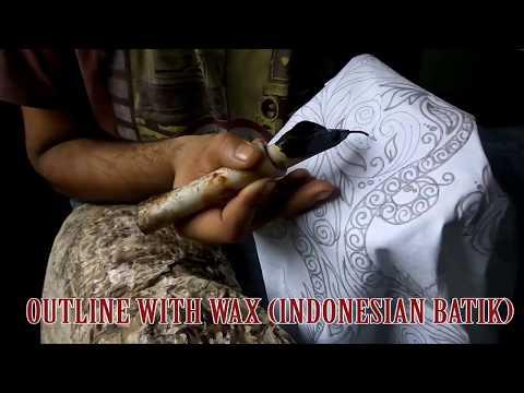 Indonesian batik   batik print   batik art   indian batik full process