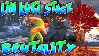 Mortal Kombat X - *NEW* LIN KUEI TEMPLE STAGE BRUTALITY!