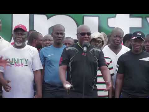 NDC faithfuls walk with John Mahama In Tamale