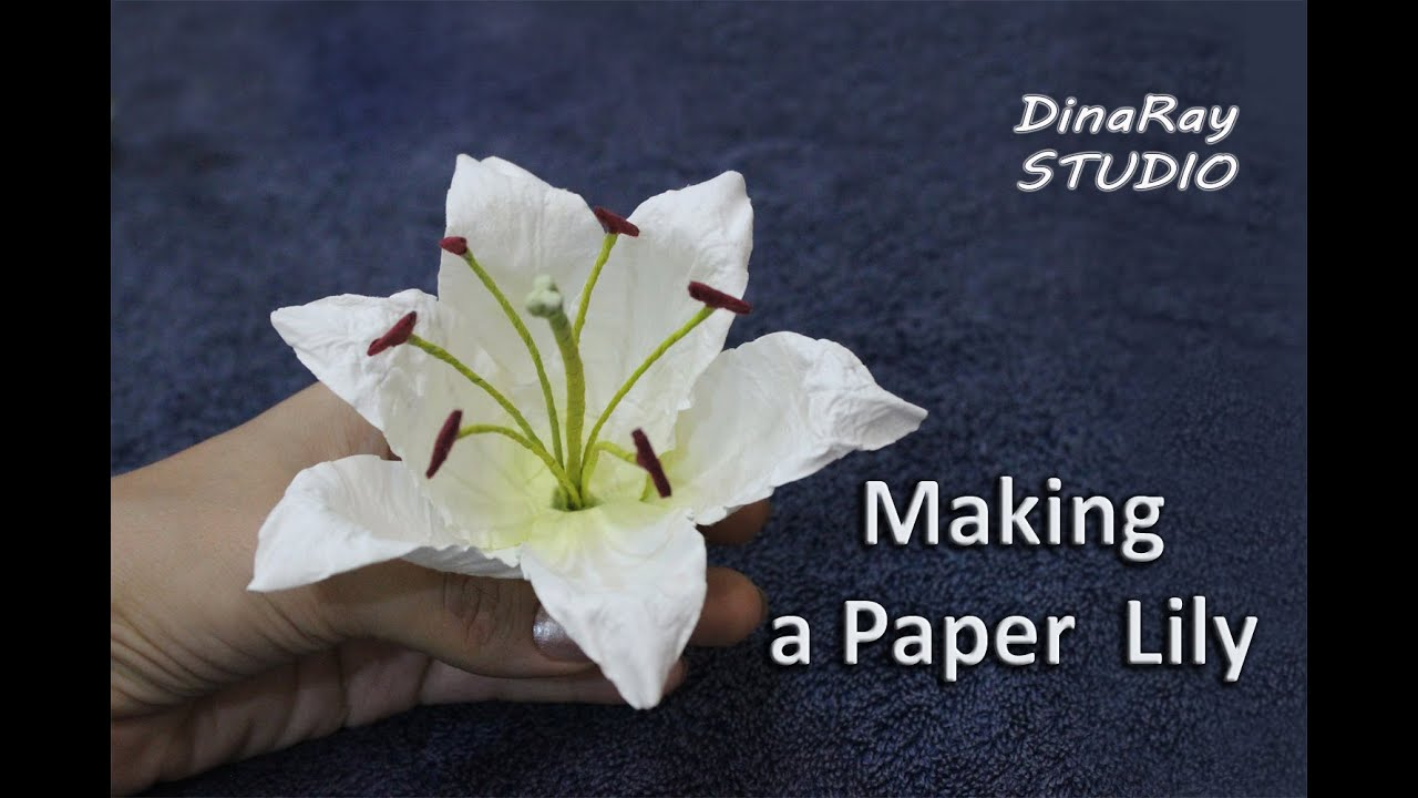 Making paper lily youtube mightylinksfo