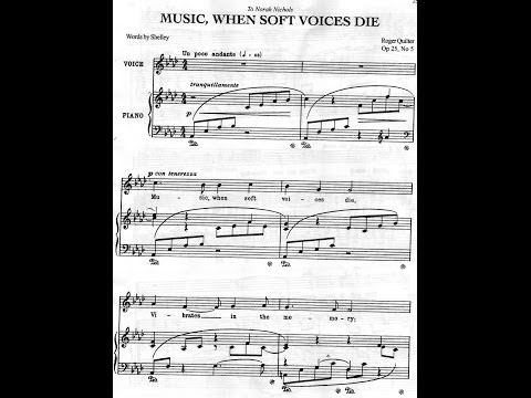 Roger Quilter, 'Music when soft voices die'