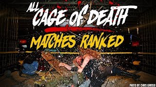 ALL Cage of Death Matches RANKED - CZW