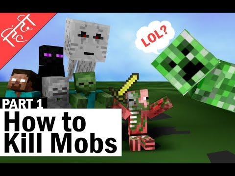 how to kill all hostile mobs in minecraft