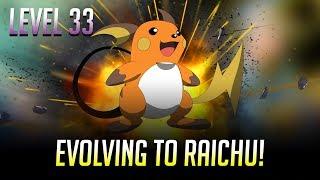 Evolving a 700 CP Pikachu Into Raichu Level 33 Highest I'v Seen Pokemon GO