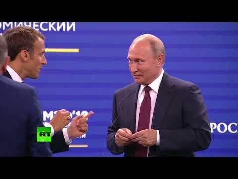 «Можно добавить и двуглавого орла»: Путин — о подарке французов на сессии ПМЭФ