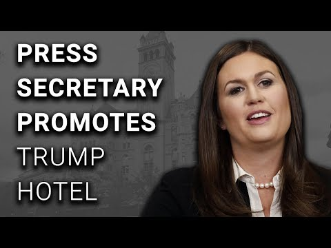 Trump Press Secretary Promotes Trump Hotel During Official Briefing