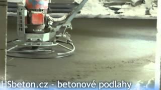 Strojní hlazení betonové podlahy