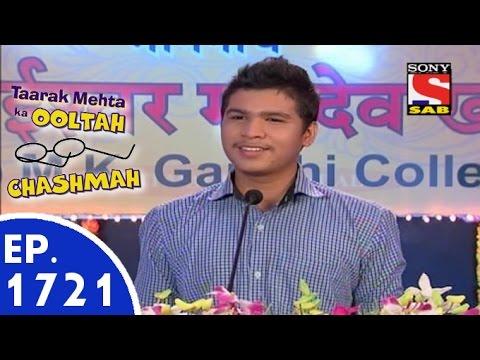 Taarak Mehta Ka Ooltah Chashmah - तारक मेहता - Episode 1721 - 21st July, 2015