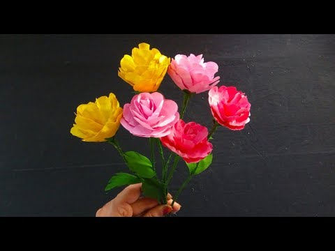 How To Make Paper Flowers At Home! | Easy Paper Craft Ideas! | DIY!