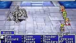 Final Fantasy 1 Dawn of Souls (GBA) Secret Bosses