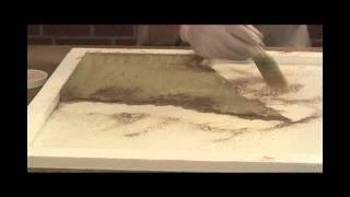 Concrete Countertop Texture - Travertine & Veining by SureCrete