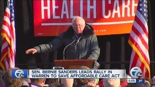 Bernie Sander rallies in Michigan to save Obamacare