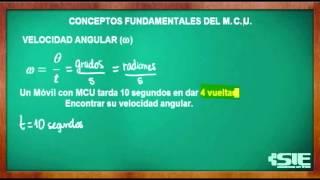 Velocidad Angular Del MCU