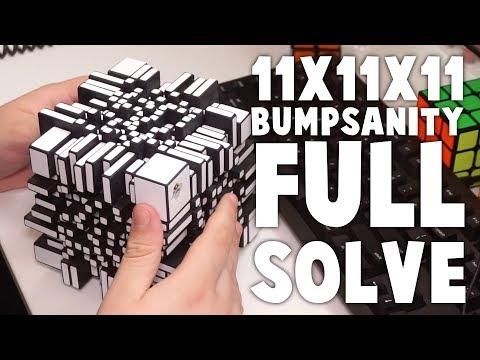 11x11x11 BUMPSANITY Full Solve!