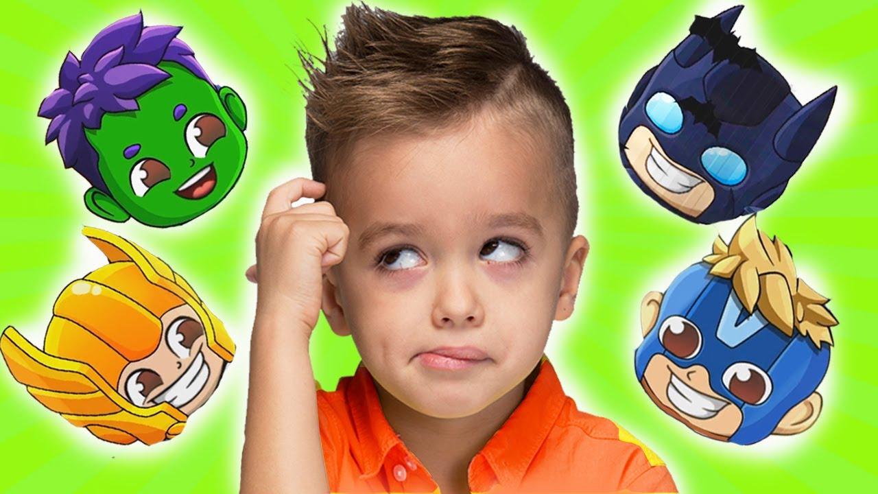 व्लाद और निकी बच्चों के लिए हीरो वीडियो में बदल जाते हैं