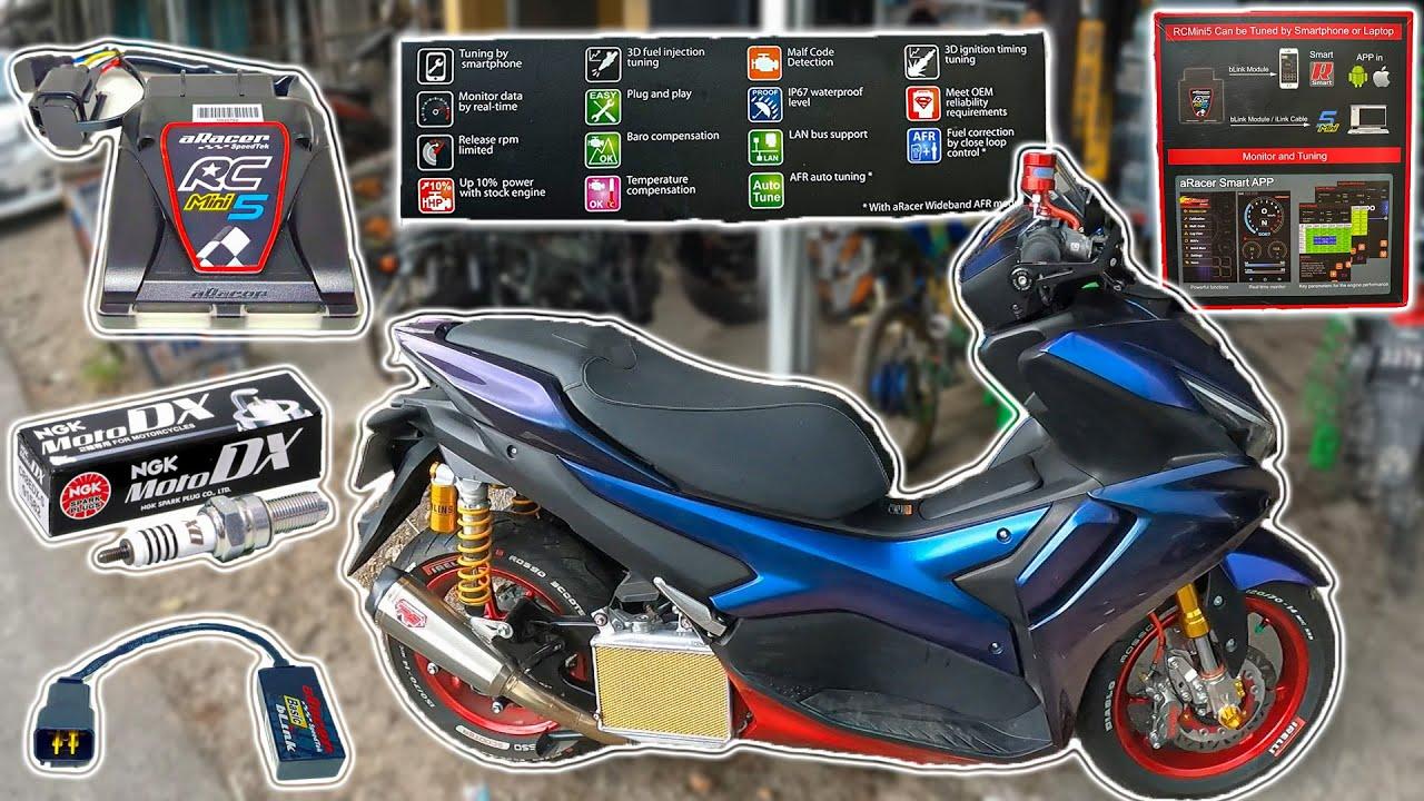 Jadi Agresif!! Ganti Ecu Aracer dan Busi MotoDX | Aerox 155
