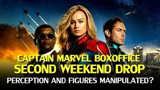 Captain Marvel second weekend boxoffice drop: Perception and Manipulation?