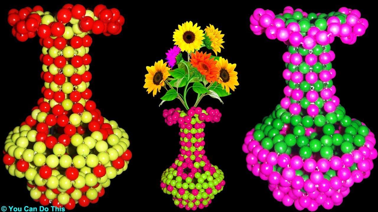 How to make flower vase flower vase diy beaded flower vase how to make flower vase flower vase diy beaded flower vase home decor ideas reviewsmspy