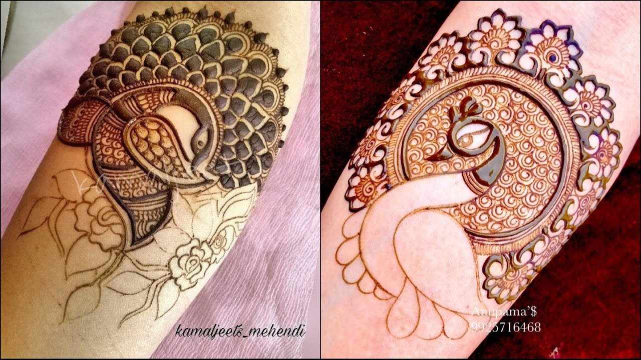 royal peacock mehndi design
