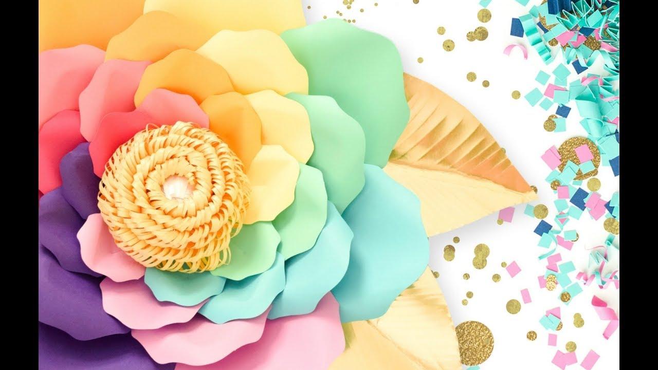Iris Unicorn Flowers- Giant Paper Flower Templates & Tutorials - YouTube