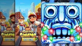 Subway Surfers New York Vs Temple Run 2 Frozen Shadows - Endless Run Gameplay