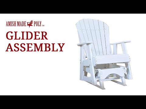 Amish Made Poly Glider Assembly