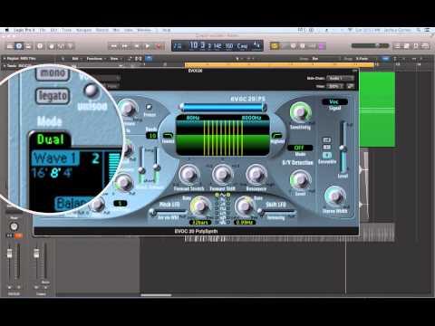Logic Pro X - Video Tutorial 57 - EVOC20 Vocoder