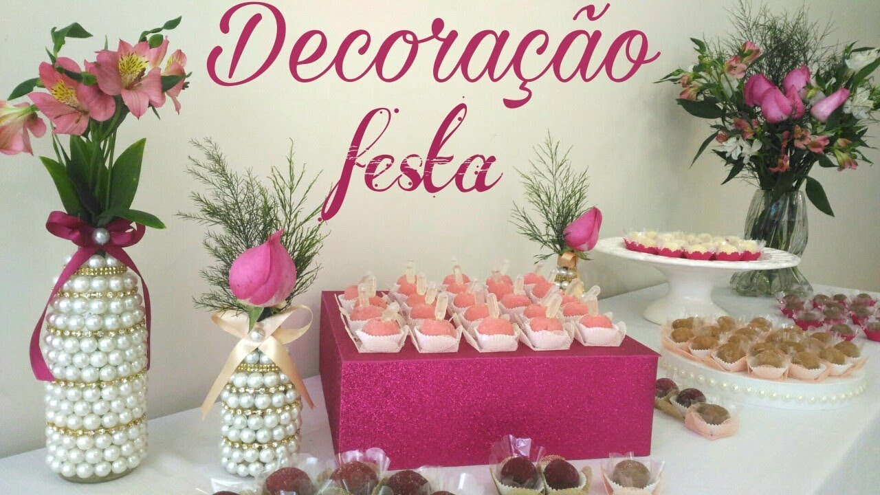 DIY extra Decoraç u00e3o jantar de formatura YouTube -> Decoração Formatura Pedagogia Simples