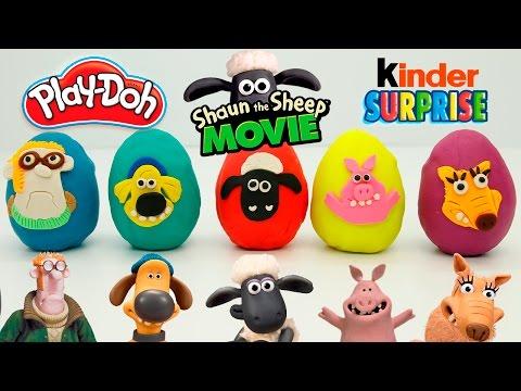 Игрушки Киндер Сюрприз. Плей До яйца с сюрпризом. Герои мультика Барашек Шон