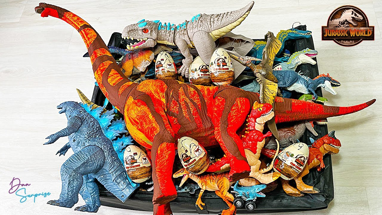Colossal Box of 150 Dinosaurs from Jurassic World Camp Cretaceous and more!