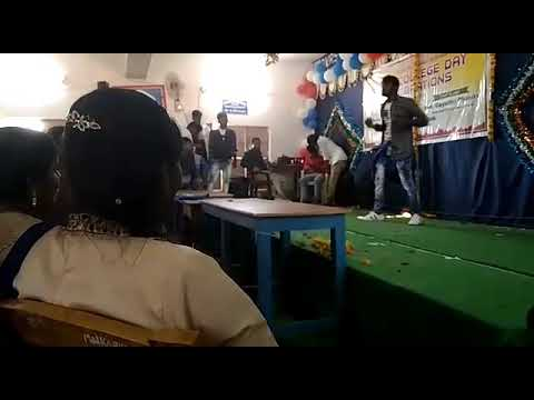 Dhone G V R S degree college in 2018 college Day celebration in solo dance in Hari Chiru remix songs