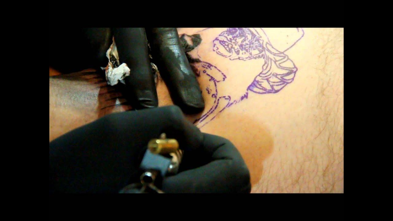Tattoos by chris starscream macho man portrait youtube for Tattoo removal baton rouge