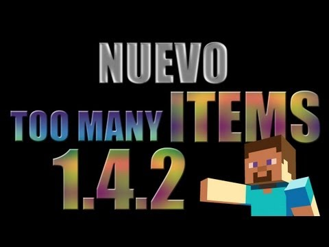 Minecraft MODS - NUEVO TOO MANY ITEMS (1.4.2)