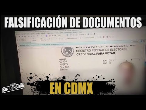 Falsificación De Documentos En CDMX