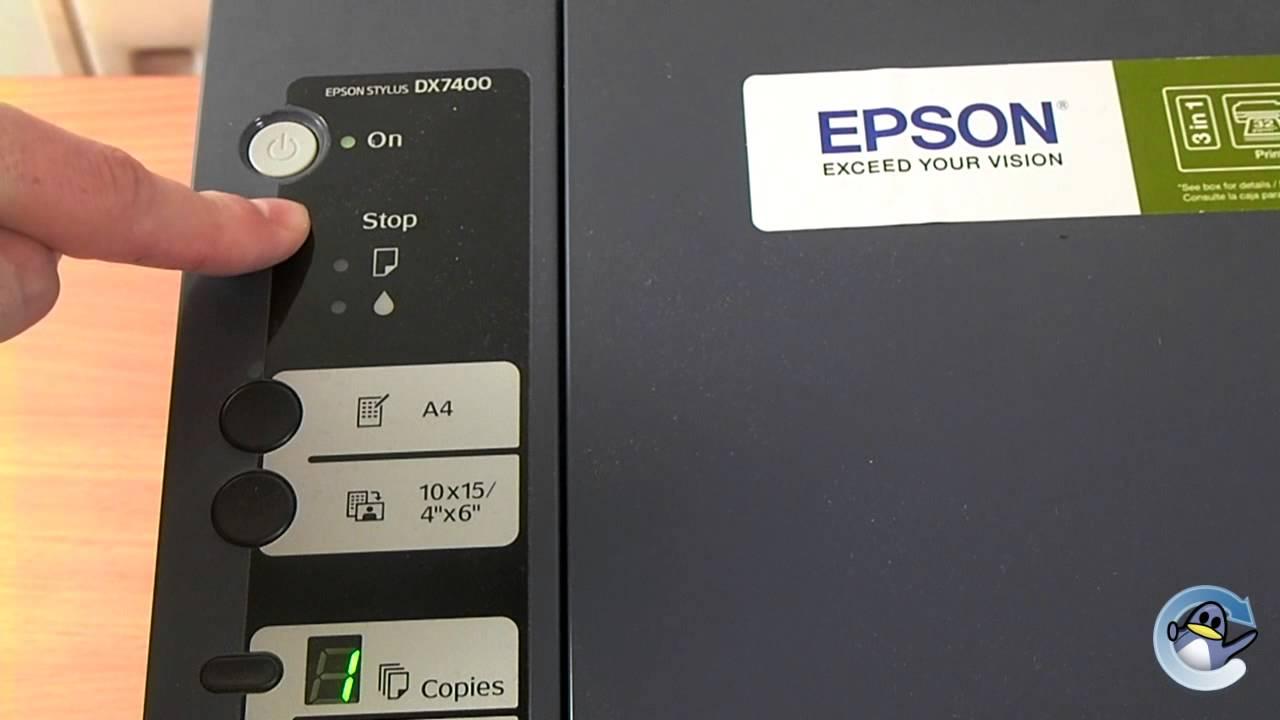 epson stylus dx7400  how to clean a print head