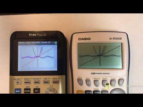 TI-84 Plus CE vs  Casio fx-9750GII - Math Class Calculator