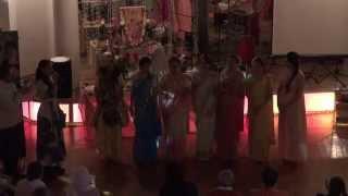 Танец Кришны, Радхики и гопи, закрытие картики 25 ноября 2015 года.