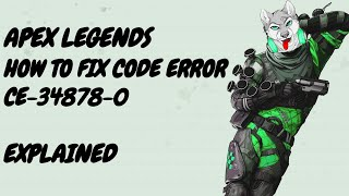 Apex Legends : How to fix Blue screen ERROR ( CE 348780 )