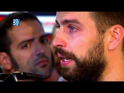 Gerard Piqué rompe a llorar al hablar sobre lo ocurrido en Cataluña
