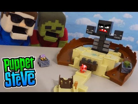 Minecraft Hot Wheels WITHER SUMMON Trap Playset Unboxing Mattel Mini Figures Blind Box