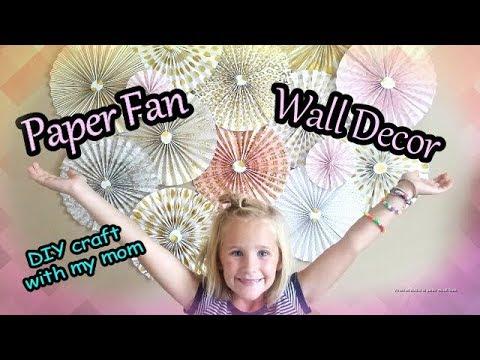Easy! PAPER FAN Fan Wall Decor - DIY