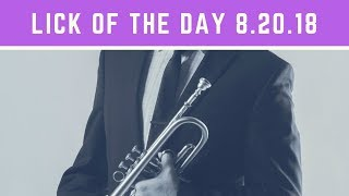 Jazz Trumpet | Lick of the Day 8.20
